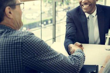 successful Business people handshake