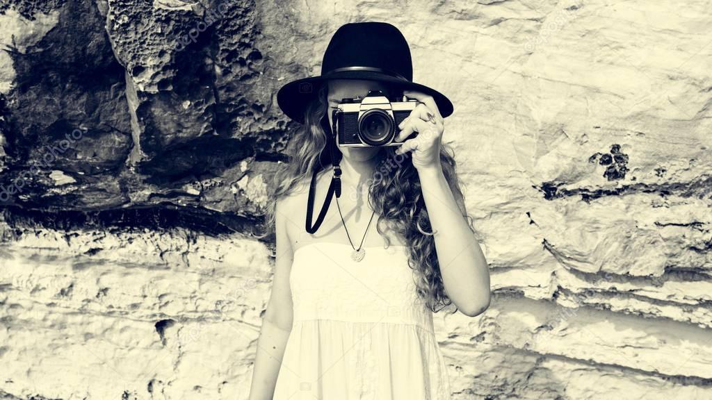 beautiful Photographer girl