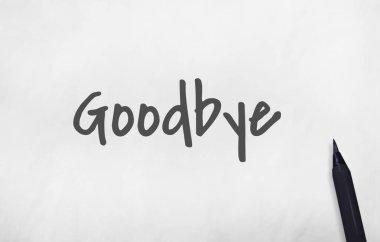 Goodbye Farewell Concept