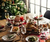 festive table for Christmas