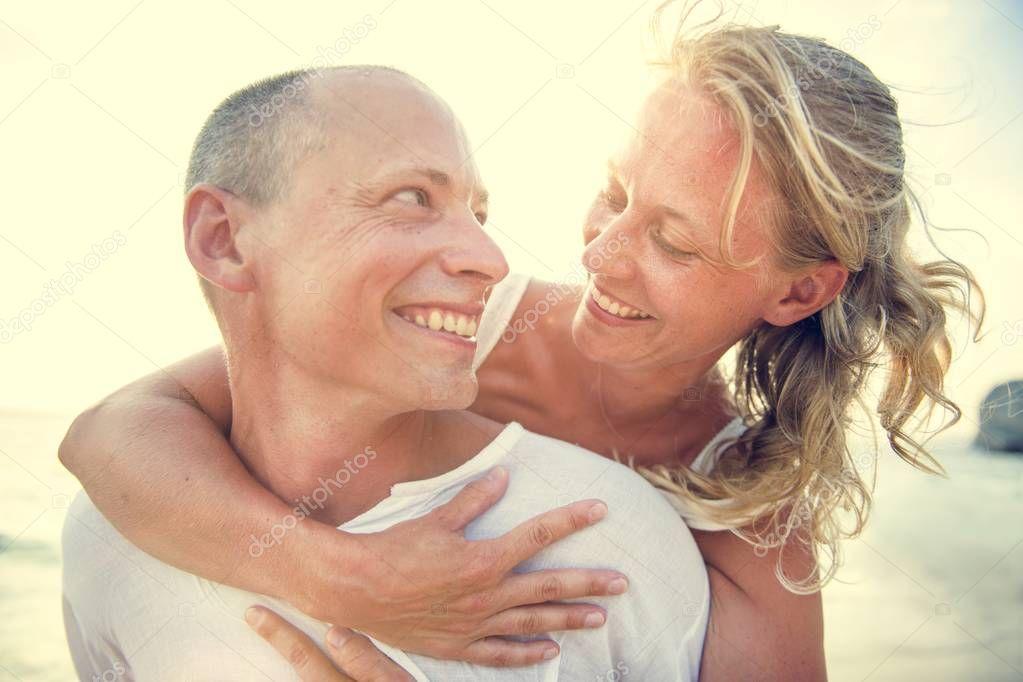 Cheerful Couple on the Beach