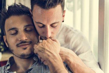 kissing Gay Couple