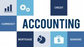Graphic Text and Accounting Concept