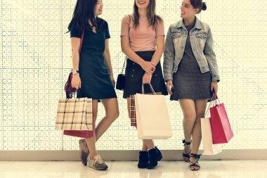 shopaholic women in mall