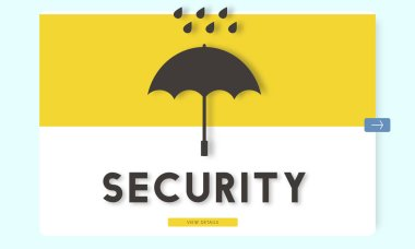 Graphic Text and Security Concept