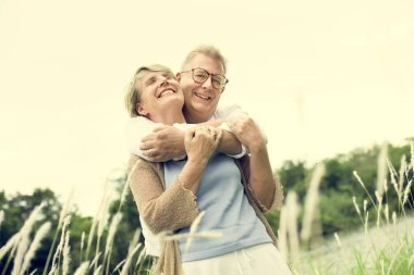 Elderly Senior Couple in love