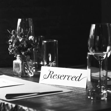 Reserved  served table in Restaurant