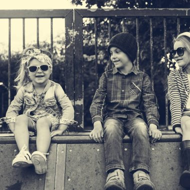 Fashionable Kids outdoors