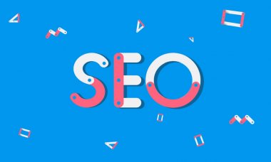 Graphic Text and SEO Concept