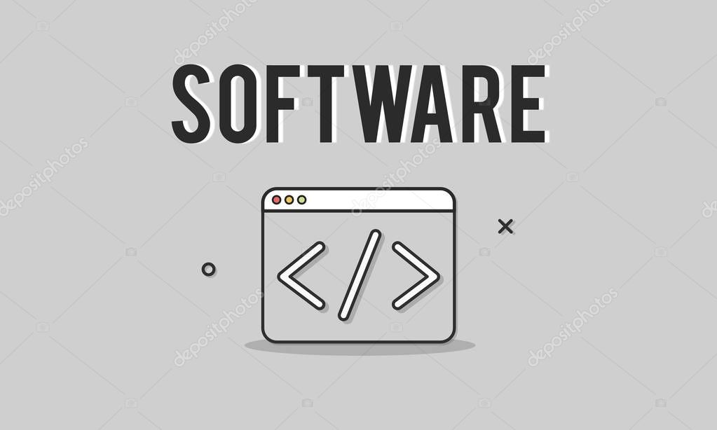 template with Software concept