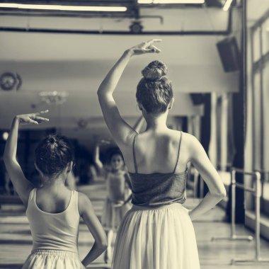 ballerinas in ballet school