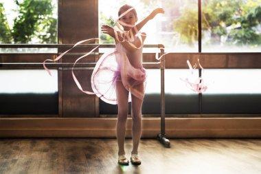 Dancing Ballerina with ribbons