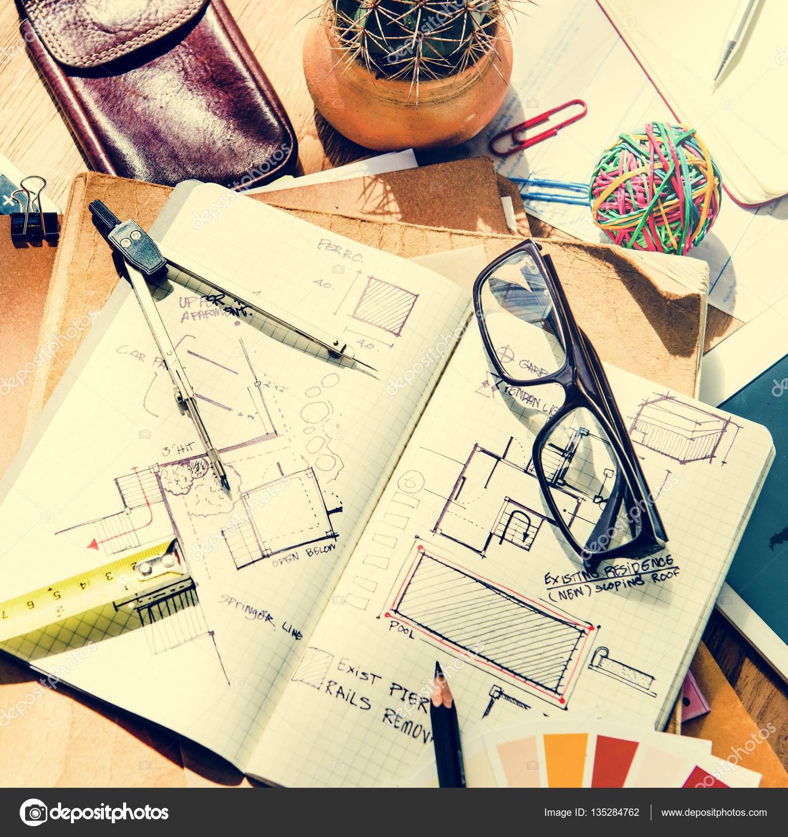 Good Architektur Blaupause Und Office Tools Auf Tisch Mit Kaffee Tasse,  Einrichtungskonzept, Original Fotoset U2014 Foto Von Rawpixel