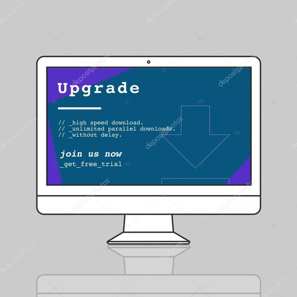 web design template monitor