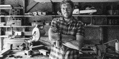 Carpenter Craftsman in workshop