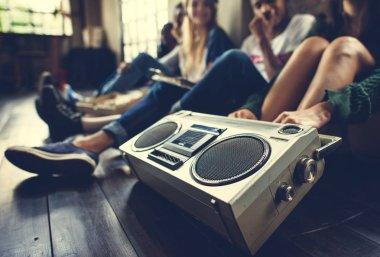 Teenage friends with Radio