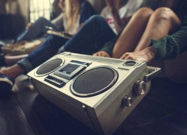 Friends with Vintage Boombox
