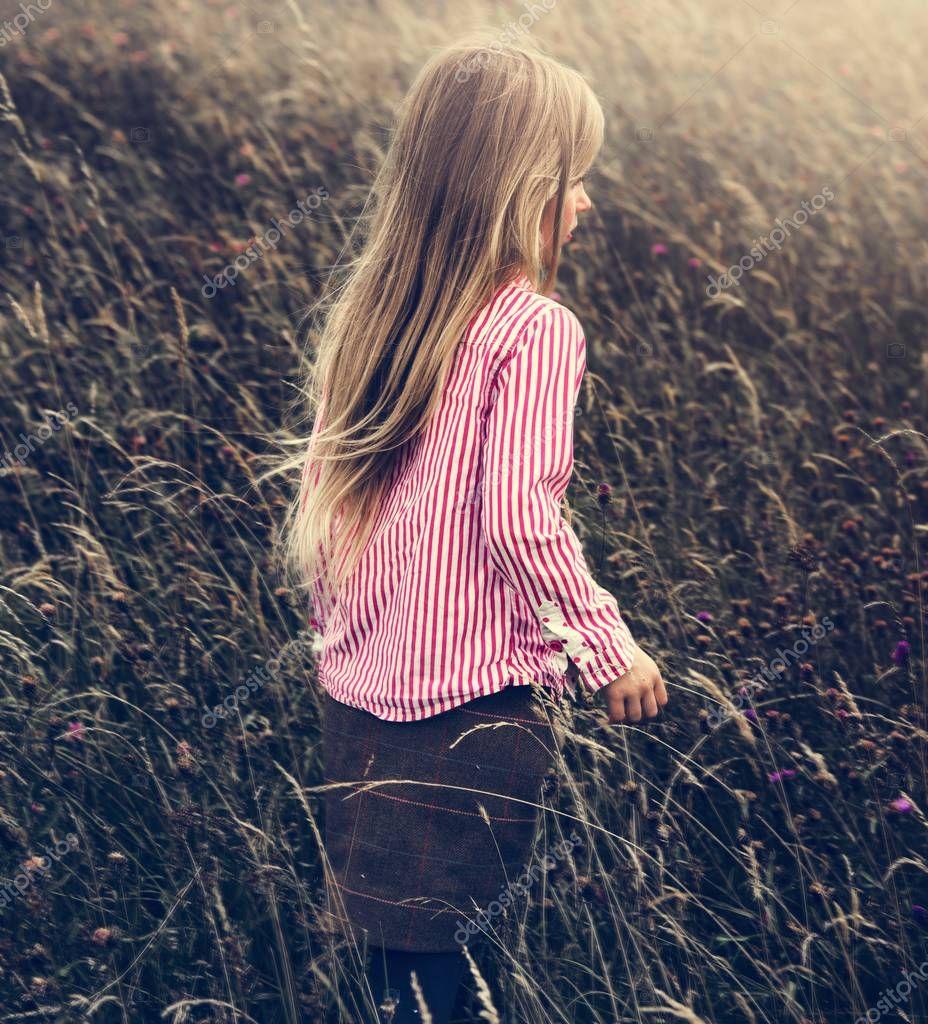 Little Girl in Field