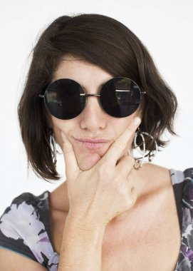 Adult Woman in sunglasses