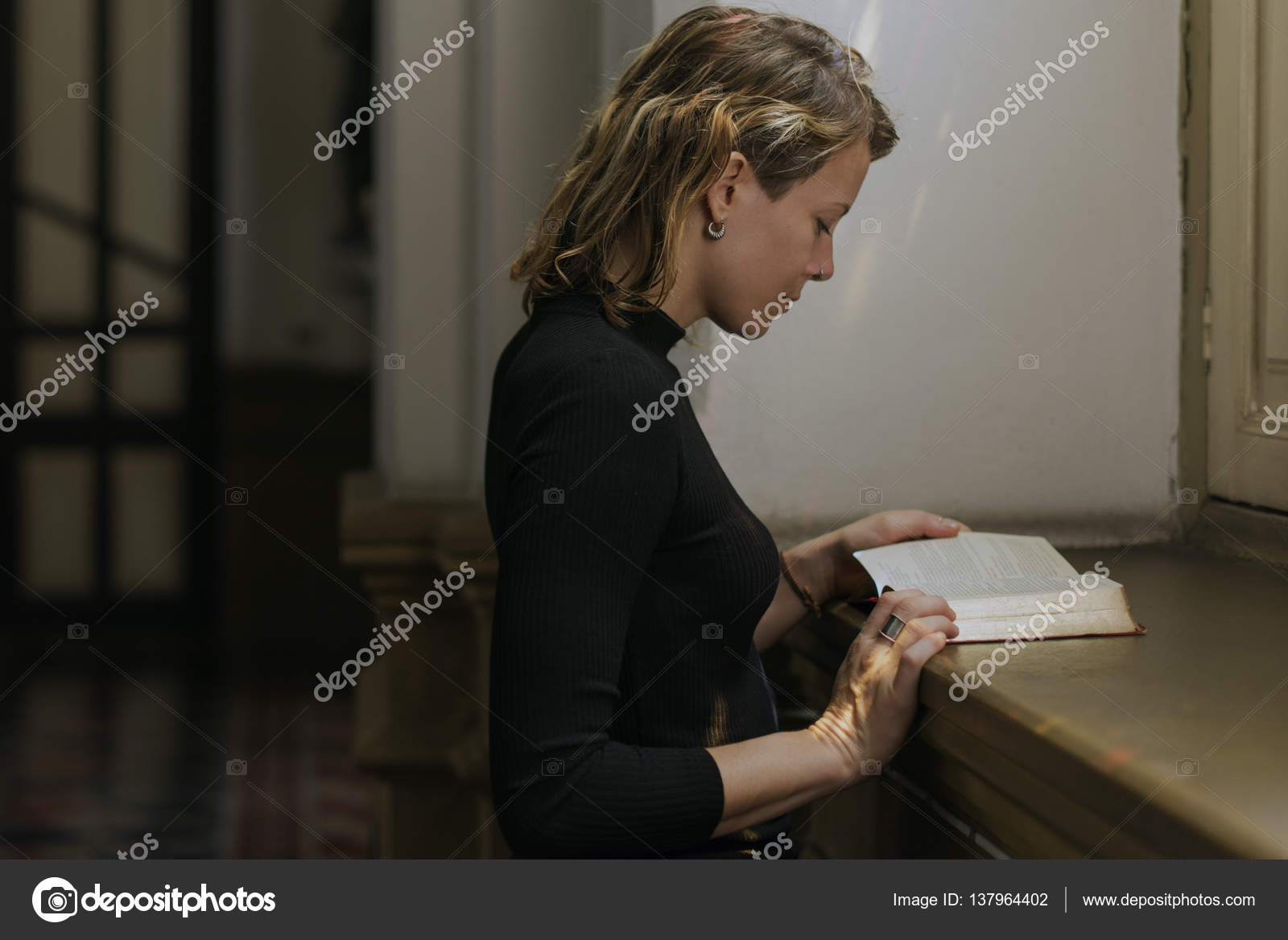 Reading Bible In Church