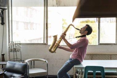 Musician playing Saxophone