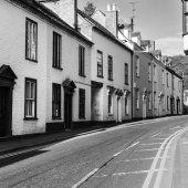gyönyörű tégla házak és utca