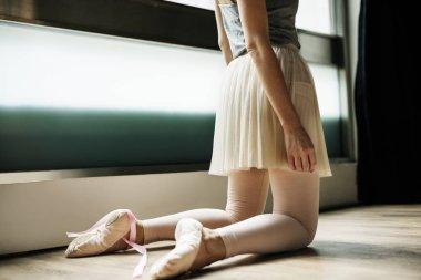 Young Ballerina Practicing