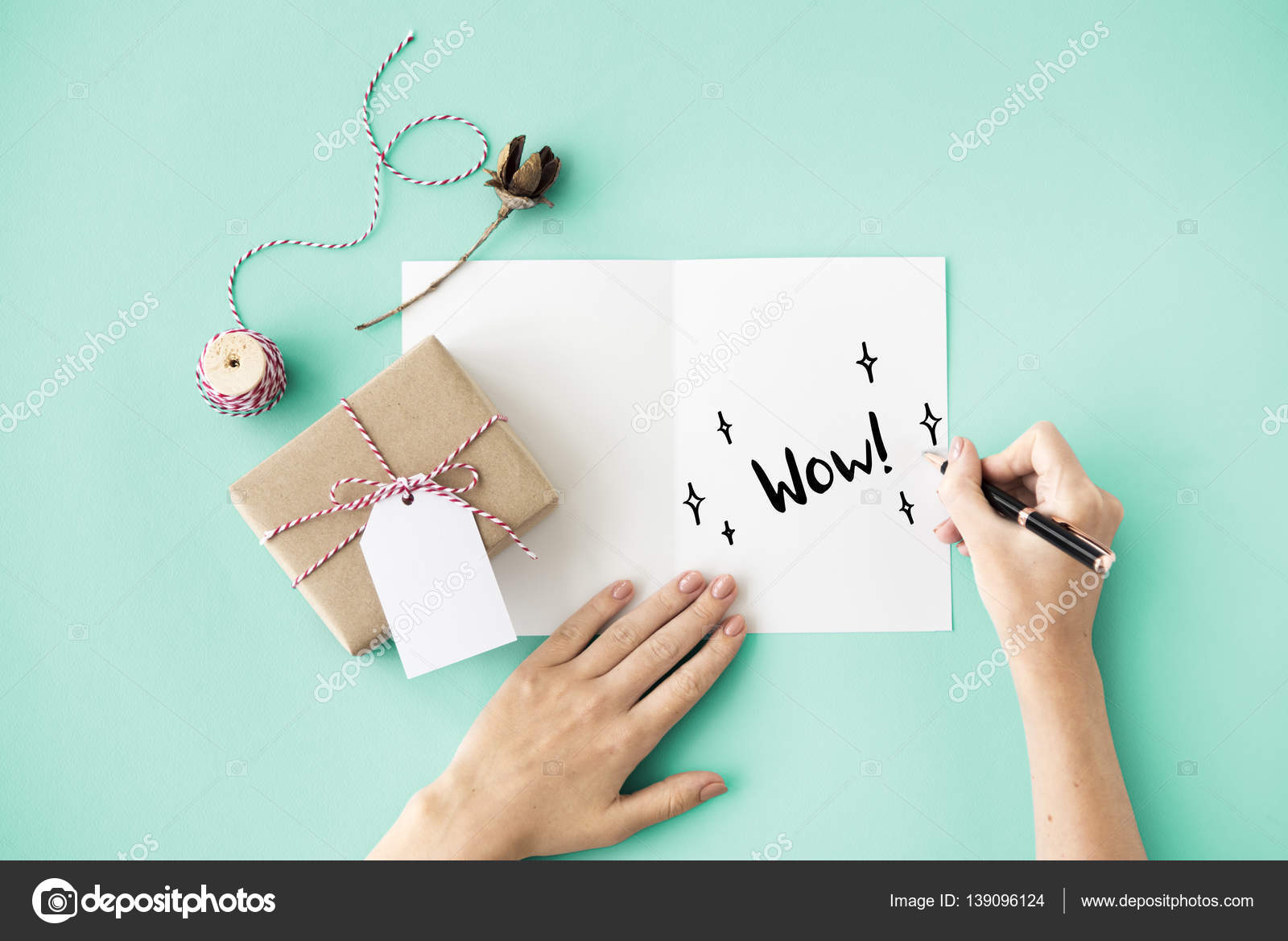 Person Writing On Greeting Card Stock Photo C Rawpixel