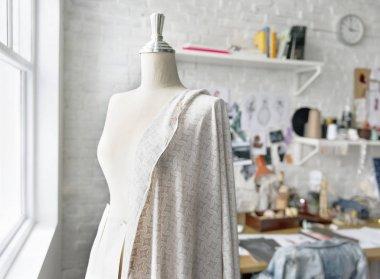 Mannequin in fashion workshop