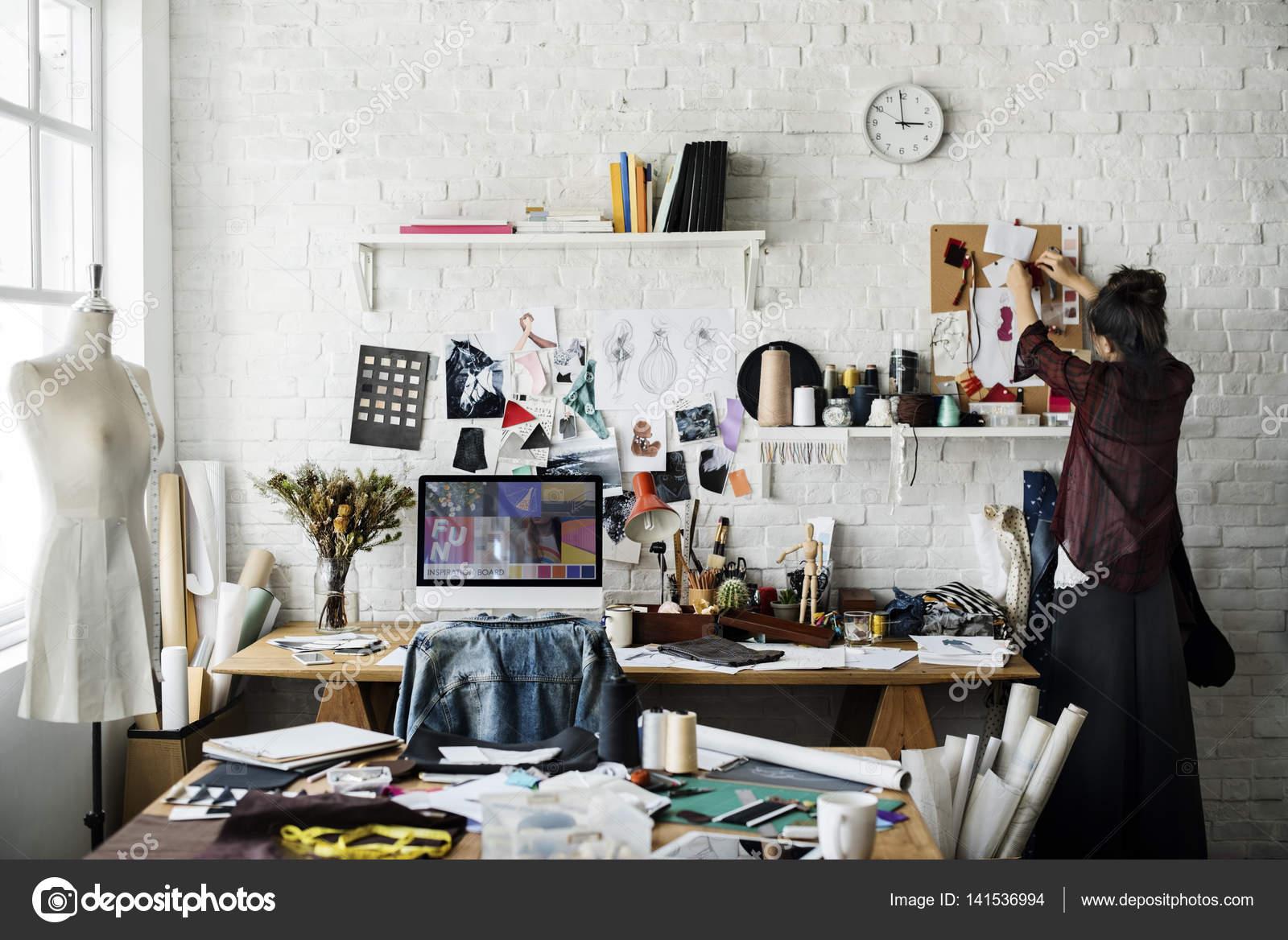 Fashion Designer In Creative Studio Stock Photo C Rawpixel 141536994