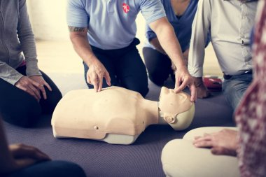 People during CPR First Aid Training