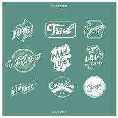 Fotografie kreativní a různé odznaky