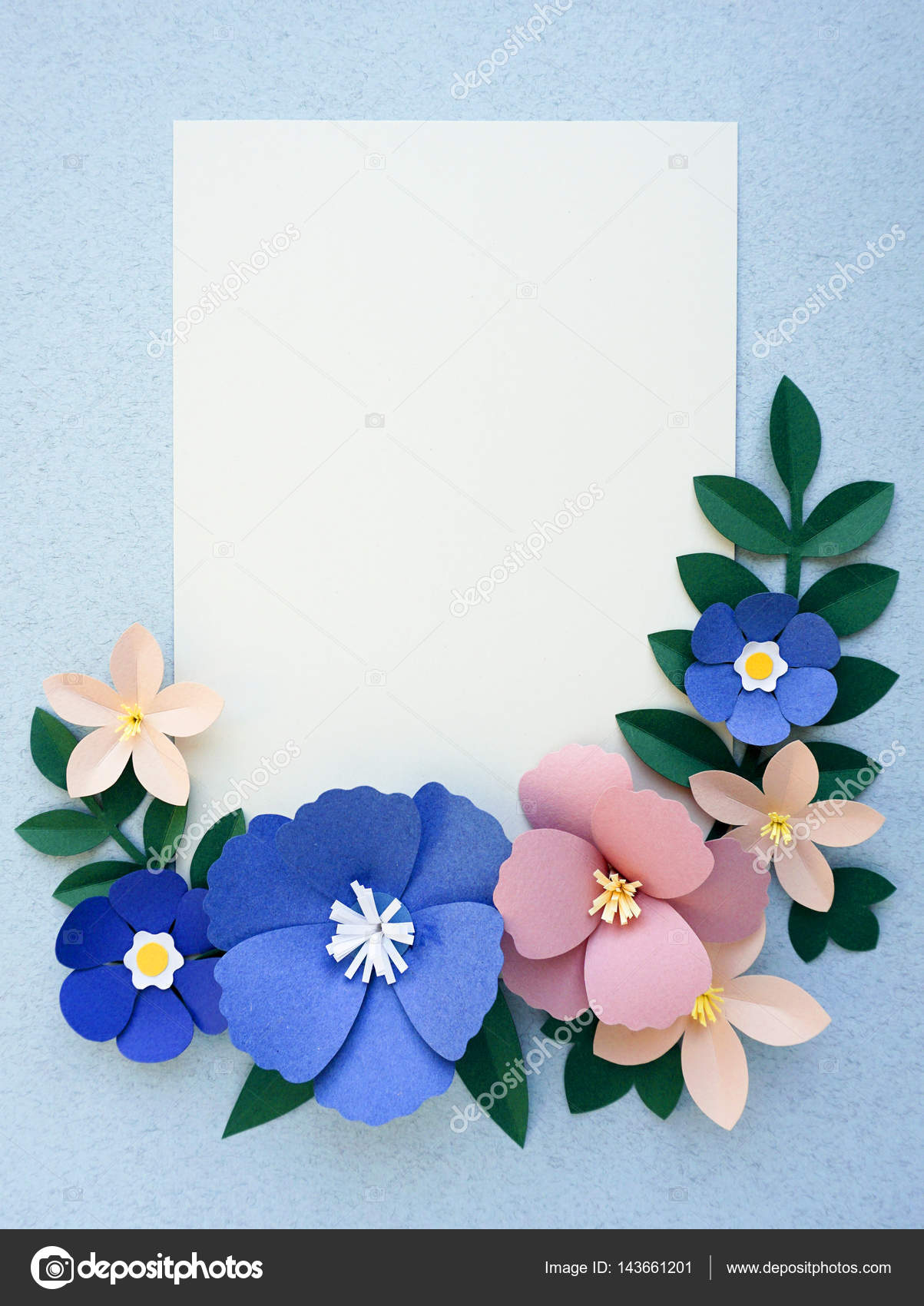 Handmade flowers on greeting card stock photo rawpixel 143661201 handmade flowers on greeting card stock photo thecheapjerseys Gallery