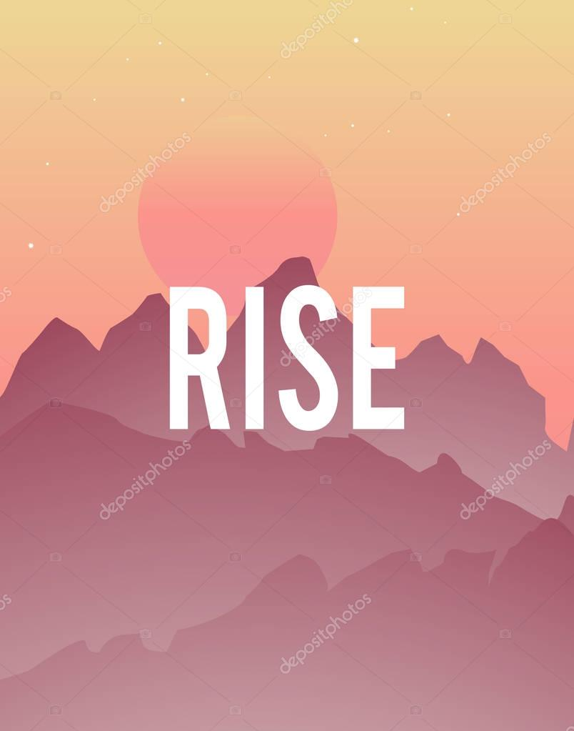 sun rise in mountains