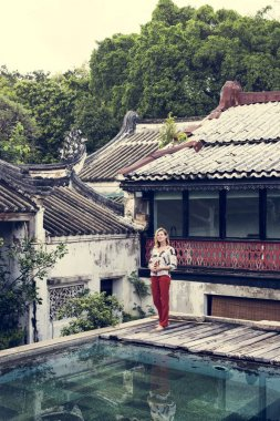 woman in chinese temple