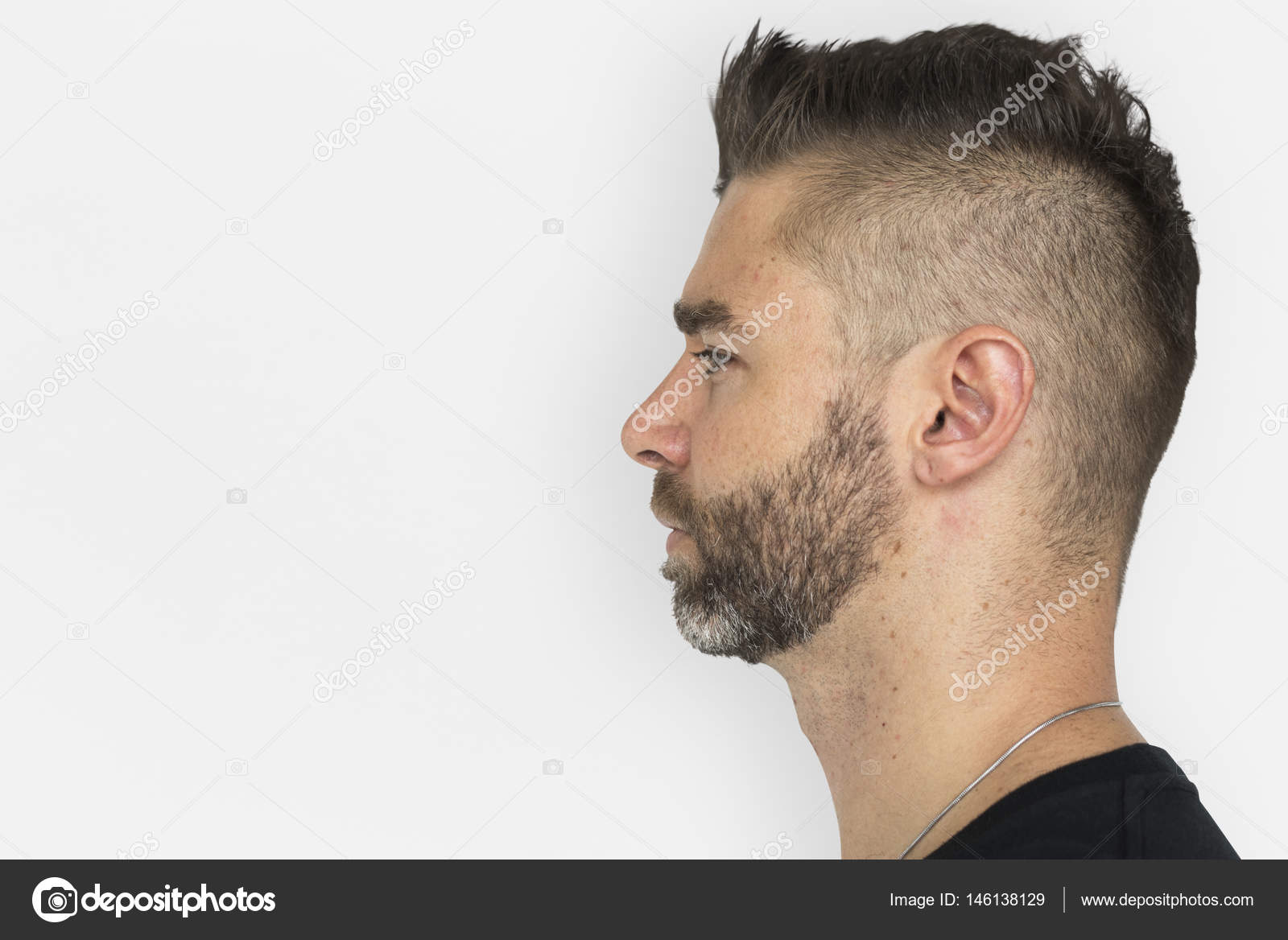 handsome man face profile stock photo rawpixel 146138129