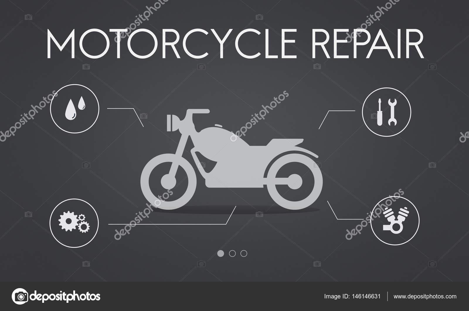 Vorlage mit Motorrad-Reparatur-Konzept — Stockfoto © Rawpixel #146146631