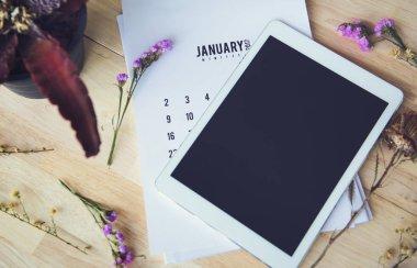 Digital tablet and calendar