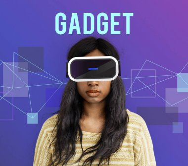 Woman with virtual reality glasses
