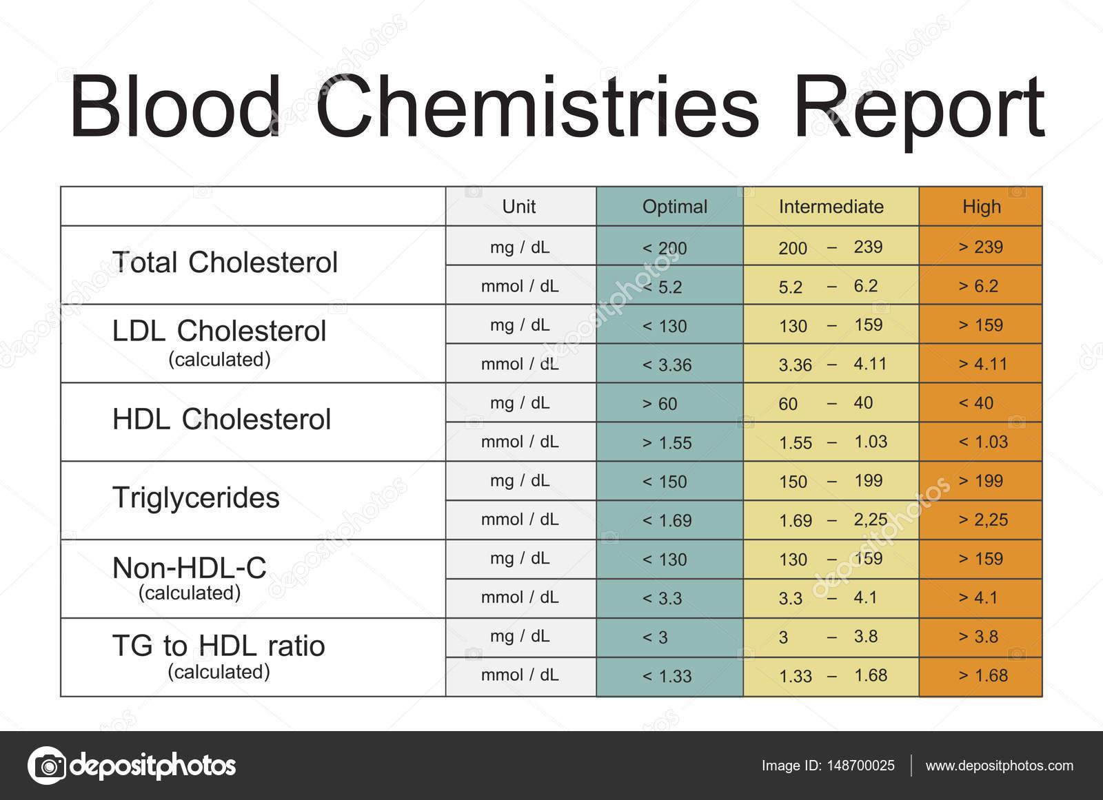 plantilla de informe de análisis bioquímico de la sangre — Foto de ...