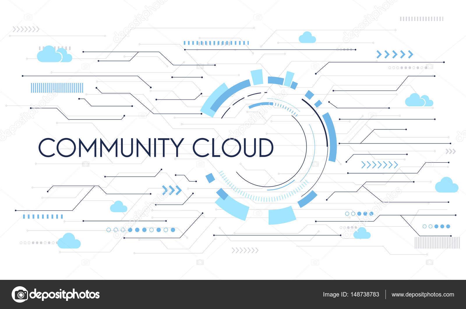 Vorlage mit Community Cloud-Konzept — Stockfoto © Rawpixel #148738783