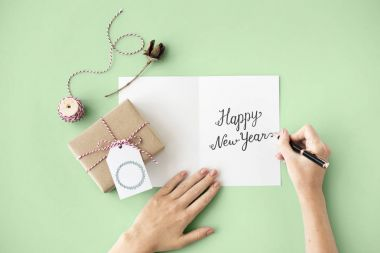 handwritten greeting card