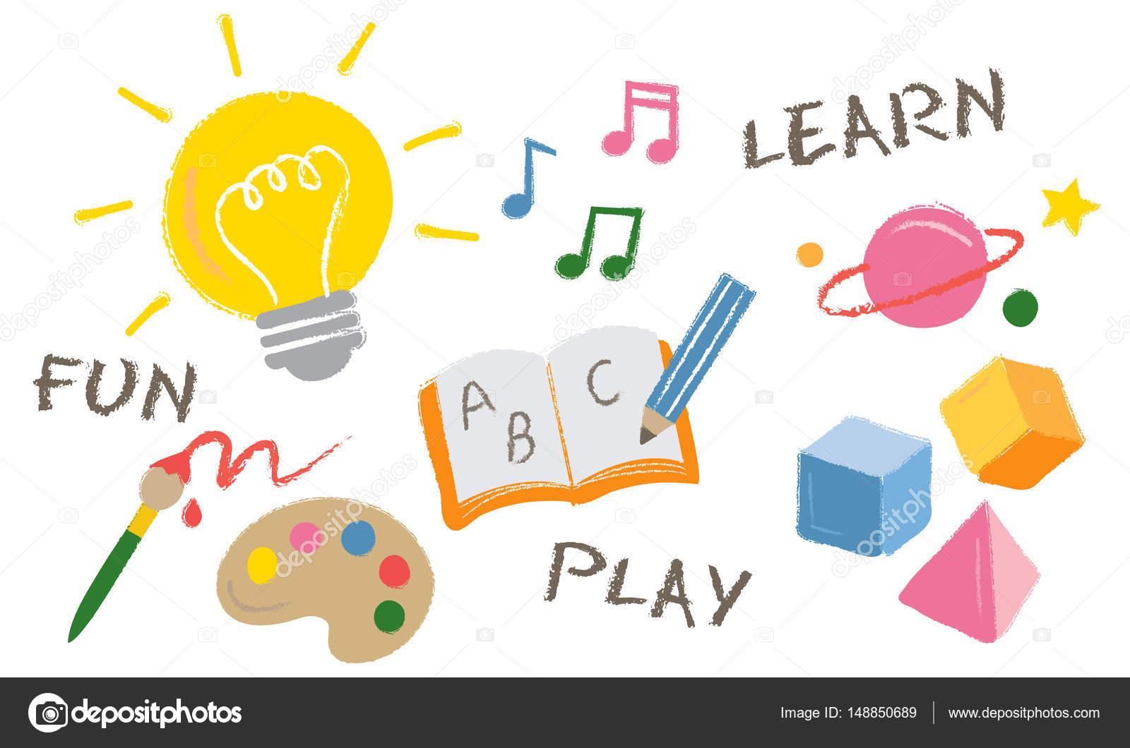 plantilla con concepto jugar aprender — Foto de stock © Rawpixel ...