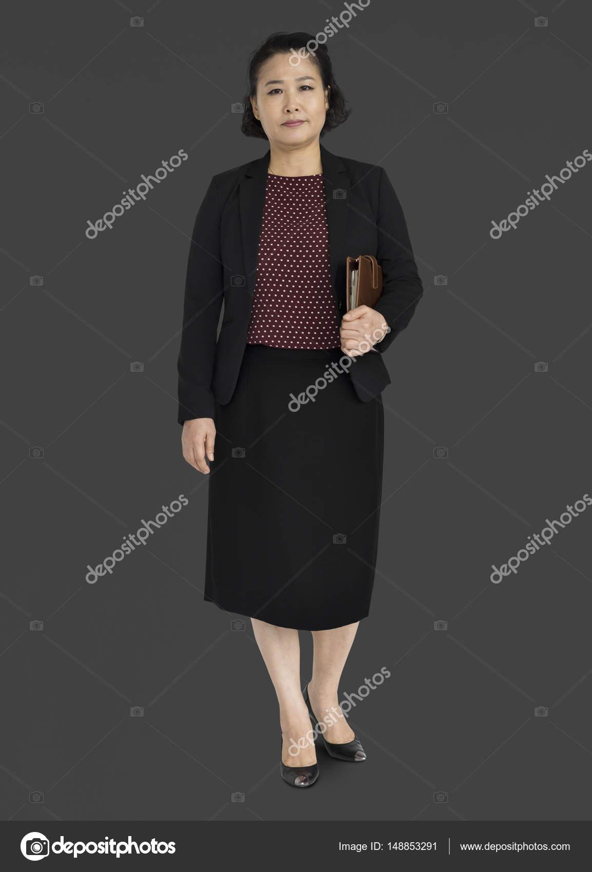 Mature Asian Businesswoman Stock Photo