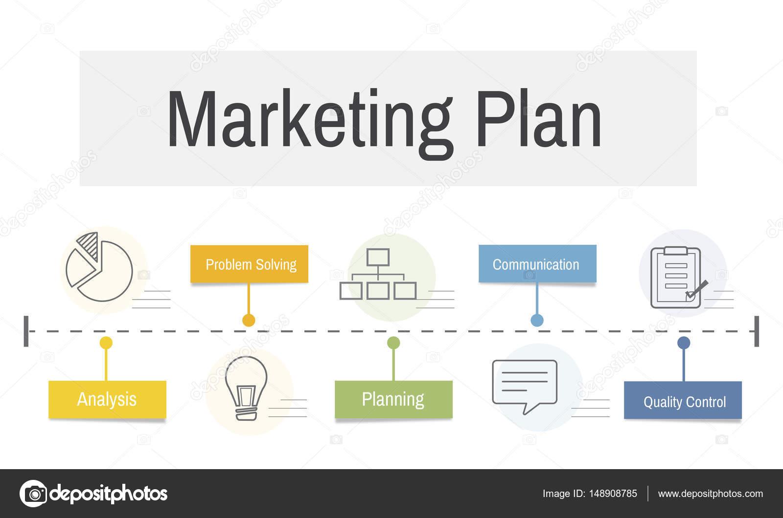 plantilla con concepto de plan de marketing — Foto de stock ...
