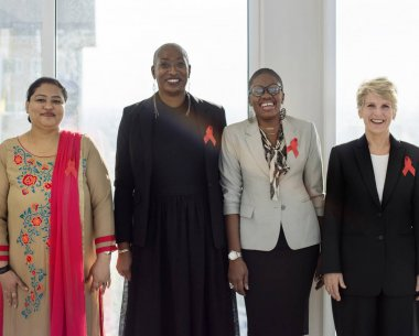 Diverse Women Together with Ribbons