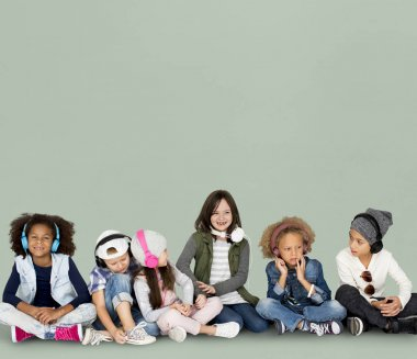 Studio shoot of little kids