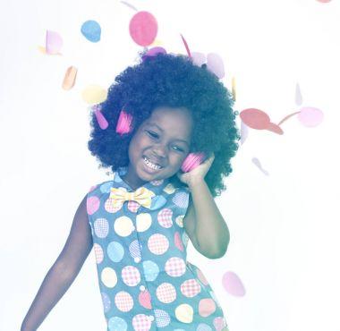 Adorable Little Girl in Headphones