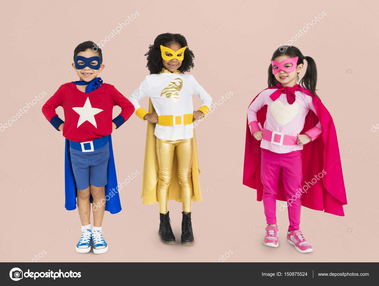 Children wearing superhero costumes u2014 Stock Photo  sc 1 st  Depositphotos & children wearing superhero costumes u2014 Stock Photo © Rawpixel #150875524