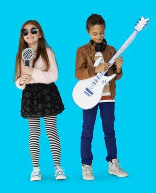 Children Musicians Singer and Guitarist